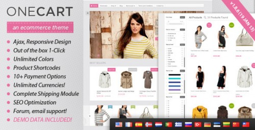 12_OneCart - Ajax Responsive E-Commerce WordPress Theme