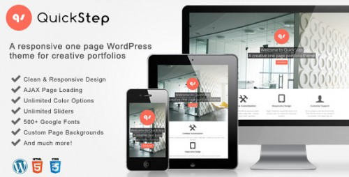 12_QuickStep - Responsive One Page Portfolio Theme