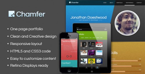 13_Chamfer - One Page Responsive Theme