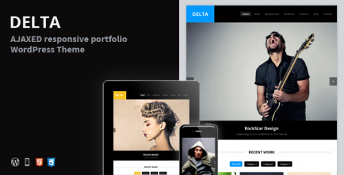 15_DELTA - AJAX Portfolio Responsive WordPress Theme