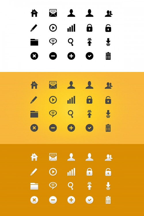 16_20 Pixel Perfect Glyph Icons (Vector PSD)