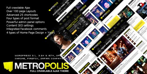 18_Metropolis - Ajax & Premium WP Theme for Creative