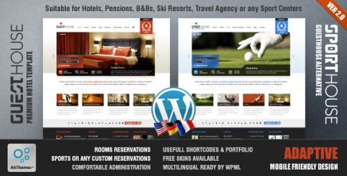 1_Guesthouse - Hotel & Sport Center 2in1 Premium Theme