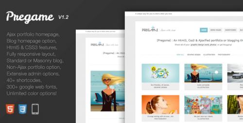 23_Pregame - Responsive, AJAX, Html5, Portfolio Theme