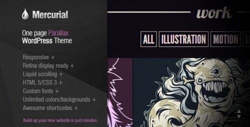 2_Mercurial - One Page Parallax WordPress Theme