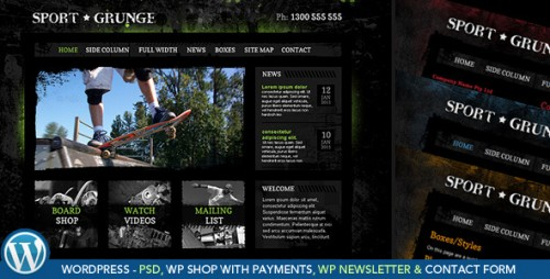 3_Sport and Grunge - WordPress Shop & Newsletter