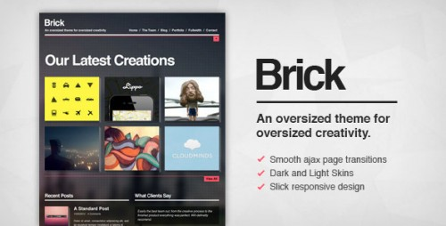6_Brick - Creative Ajax Wordpress Theme