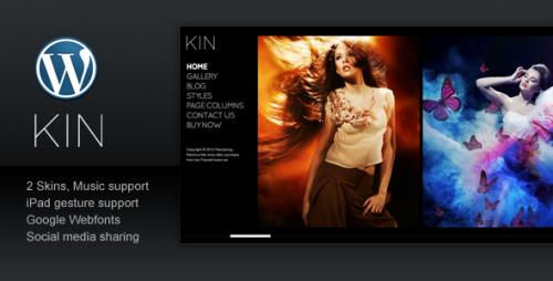 7_KIN - Minimalist Photography Wordpress Template