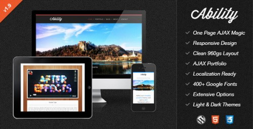 8_Ability - Responsive One Page Ajax WordPress Theme