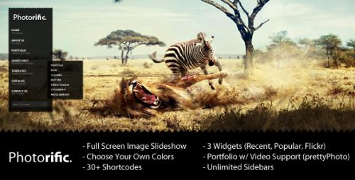 8_Photorific - Photography WordPress Theme
