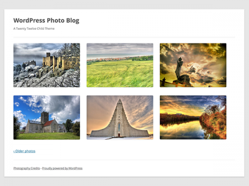 Build a WordPress Photography Child Theme