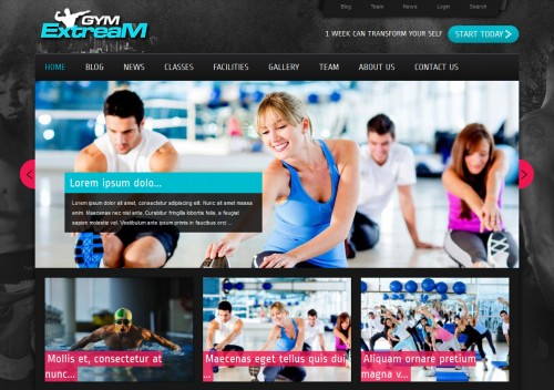 Gym Extream - Gym and Fitness Theme