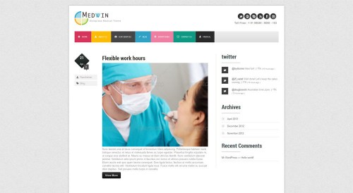 Medwin - Responsive Medical WP Theme