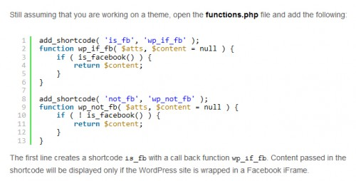 Making WordPress Apps Ready for Facebook