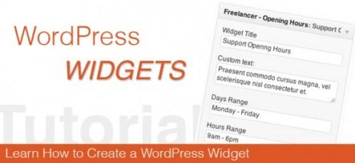 Create A Widget Plugin For WordPress