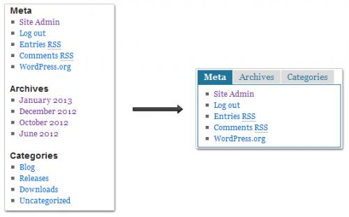 How To Create A Tab Widget In WordPress