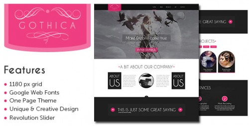 Gothica - One Page WordPress Theme