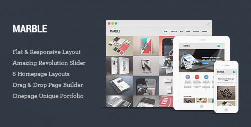 Marble - Flat Responsive Creative WP Theme