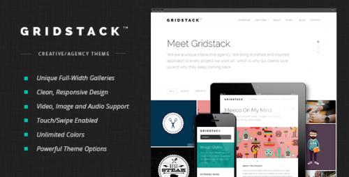 GridStack - Responsive Agency WordPress Theme
