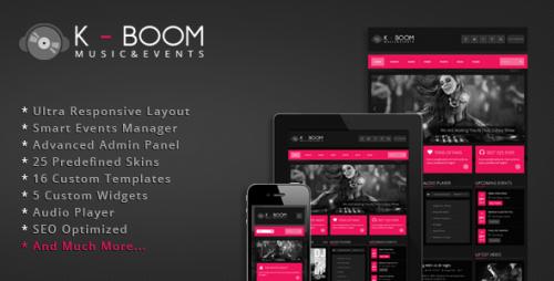 K-BOOM - Events & Music Responsive WP Theme