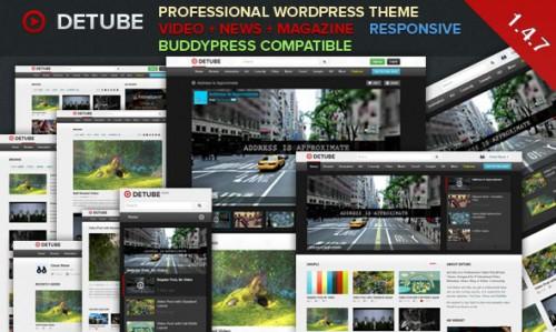 deTube - Professional Video WordPress Theme
