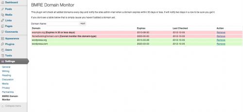 BMRE Domain Monitor