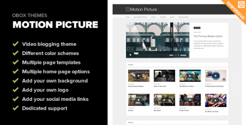 Motion Picture - Responsive WP Video Theme