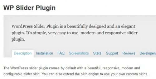 WP Slider Plugin