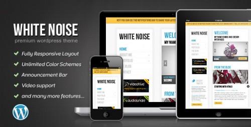 White Noise - Responsive WordPress Theme