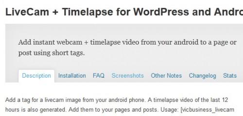 LiveCam + Timelapse