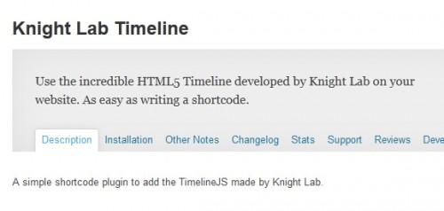 Knight Lab Timeline