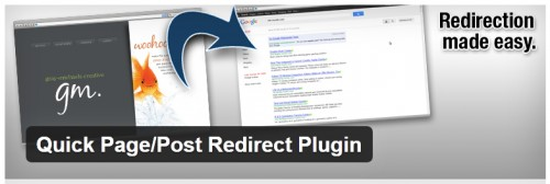 Quick Page/Post Redirect Plugin