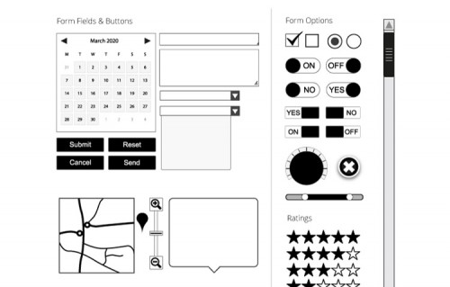 Vector Wireframe Kit & Symbol Library