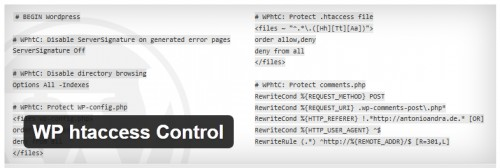 WP htaccess Control