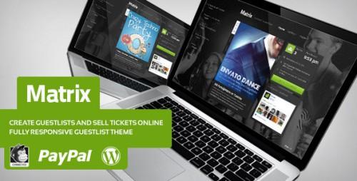 Matrix - Event Guest List WordPress Theme
