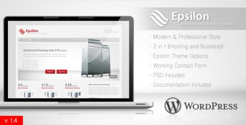 Epsilon - Hosting and Business WordPress Theme