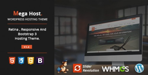 MegaHost - Responsive Hosting - WordPress Template