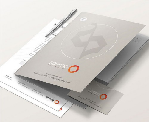Corporate File Folder Mockups