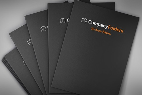 Stacked Presentation Folders Mockup Template