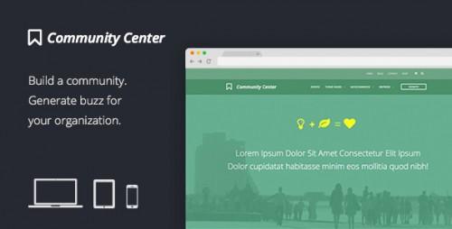 Community Center - WordPress Forums, Events & Shop Theme