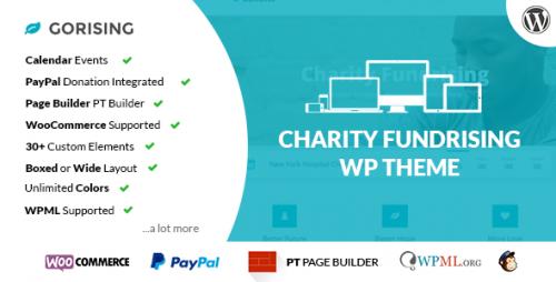 GoRising - Charity Non-Profit Fundraising WP Theme