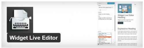 Widget Live Editor