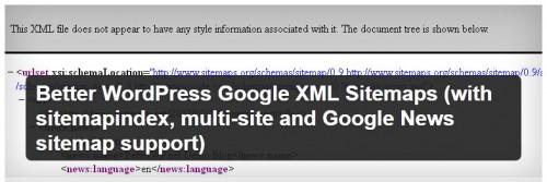 Better WordPress Google XML Sitemaps