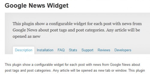Google News Widget