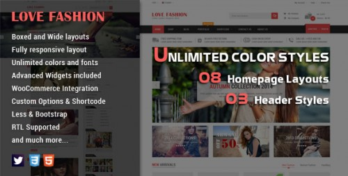 Love Fashion - Responsive WordPress Theme
