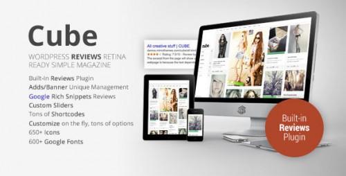 Cube Multipurpose Reviews WordPress Magazine Theme
