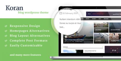 Koran - News & Magazine WordPress Theme