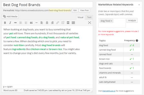 MarketMuse Related Keywords