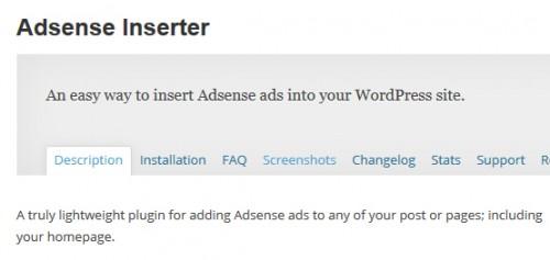 Adsense Inserter