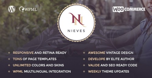 Nieves - Beauty Salon WordPress Theme